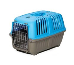 Travel Carriers midwest 22 inch spree plastic pet carrier blue