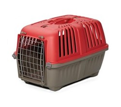 Travel Carriers midwest 22 inch spree plastic pet carrier red