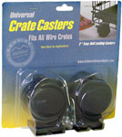 MidWest MW44 Universal Crate Casters (2-Pack)