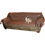K&h Manufacturing Kh-7896 Leather Lovers Couch Cover- Chocolate
